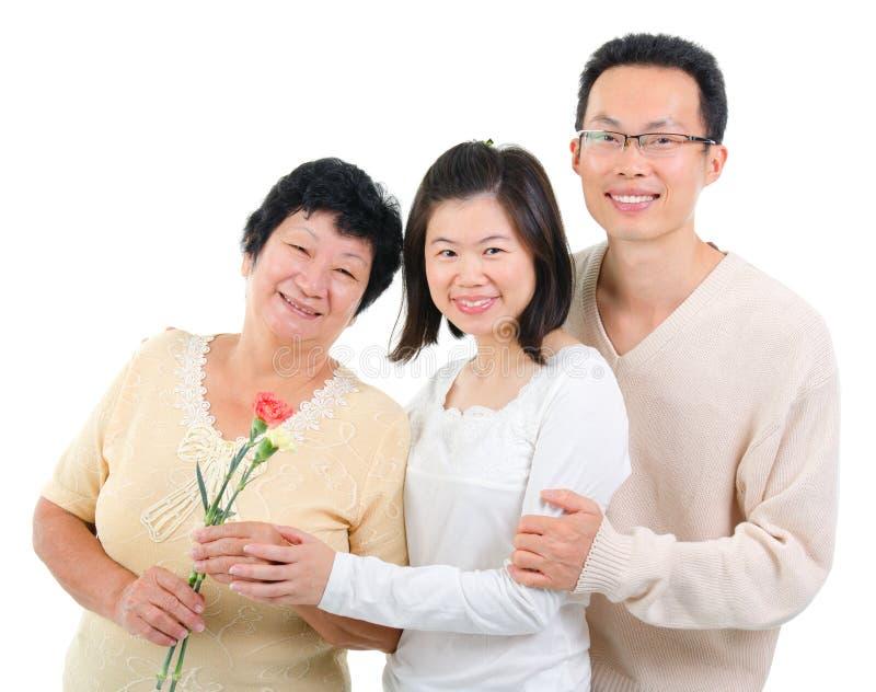 在母亲节的康乃馨花。 免版税库存照片