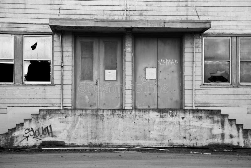 在母马海岛的被放弃的大厦 库存照片