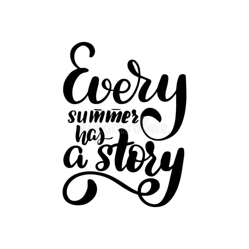 每个夏天有一个故事 库存例证