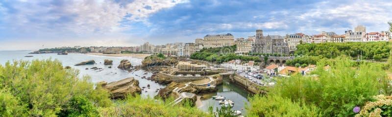 在比亚利兹-法国的全景 免版税库存图片