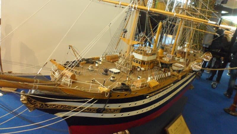 在比例模型的船亚美利哥・韦斯普奇 免版税库存照片