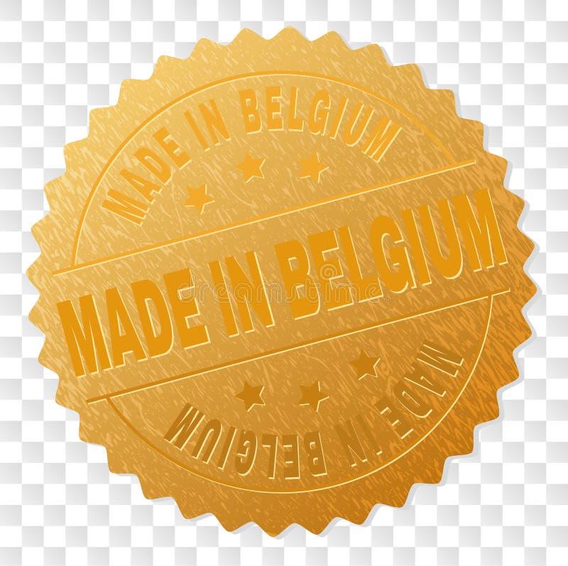 在比利时大奖章邮票做的金子 库存例证