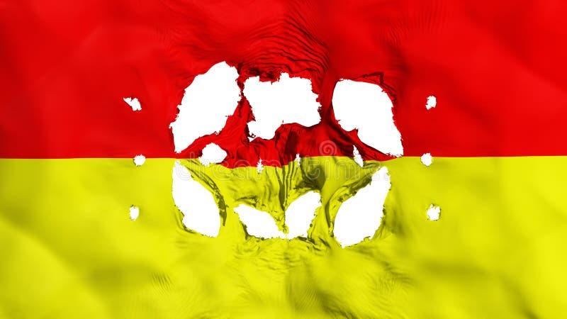 在比勒陀利亚市旗子的孔 库存例证