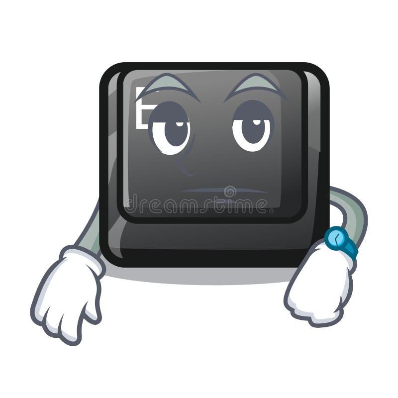 在比赛动画片的等待的按钮E 库存例证