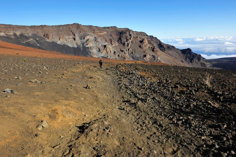 在毛伊的美丽的Haleakala火山口 库存图片