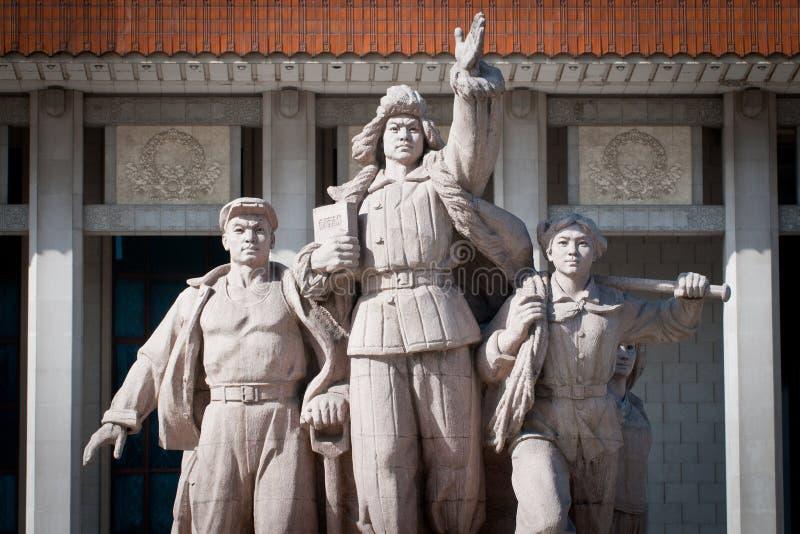 在毛泽东前面陵墓的纪念碑  免版税库存图片