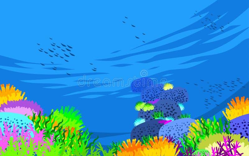 在水之下的鱼 皇族释放例证