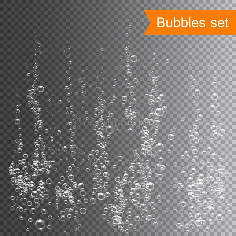 在水传染媒介例证下的泡影 库存例证