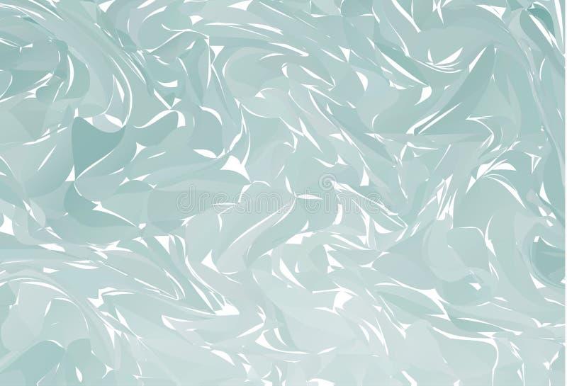 在水大理石纹理的传染媒介手拉的艺术品 灰色液体油漆样式 在技术ebru的suminagashi的抽象五颜六色的背景 库存例证