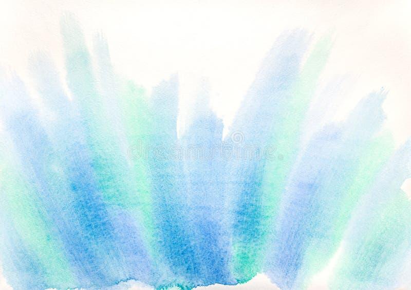 在水彩纸的抽象手画水彩画 免版税库存图片