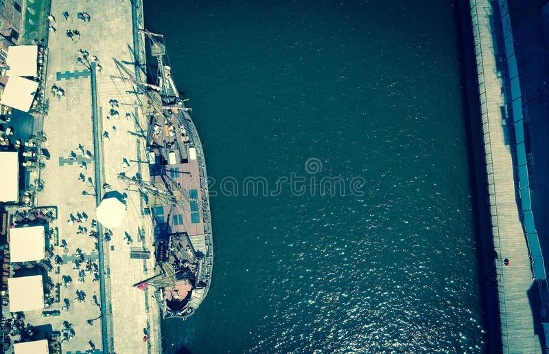 在水的帆船 免版税库存图片