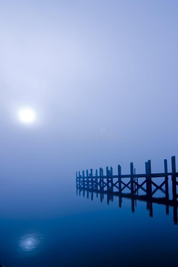 在水的月光 免版税库存照片