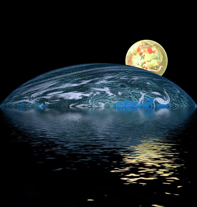 在水黄色的球 向量例证