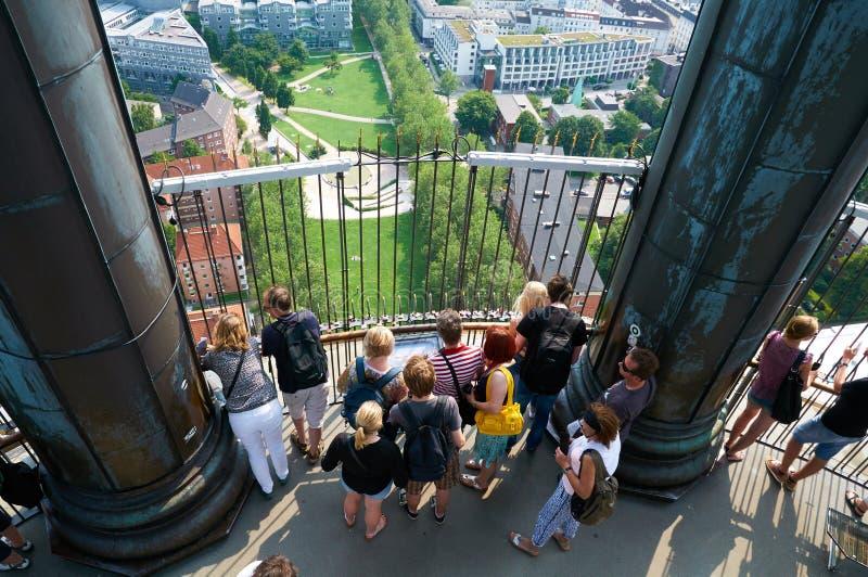 在汉堡的看法从圣迈克尔的教会 德国 免版税库存照片
