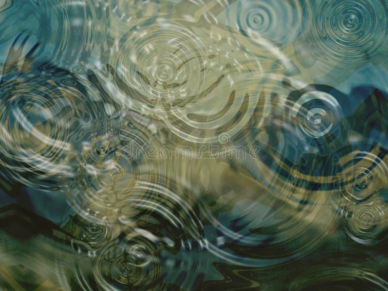 在池塘的波纹 图库摄影