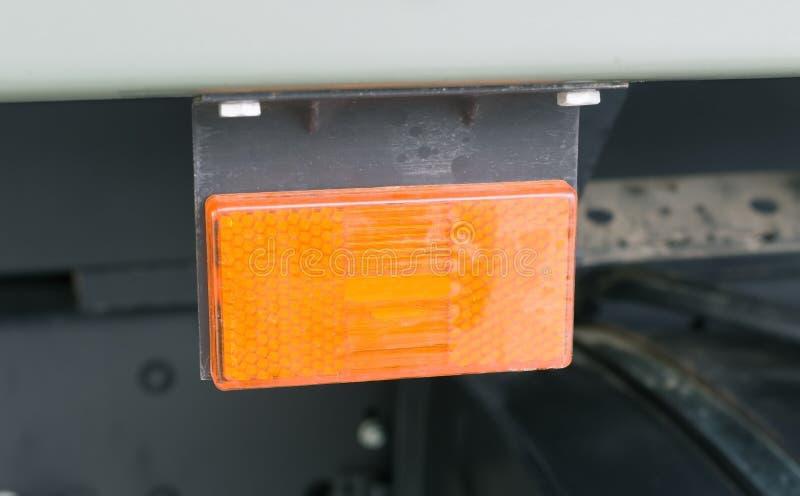 在汽车的反射器 库存照片