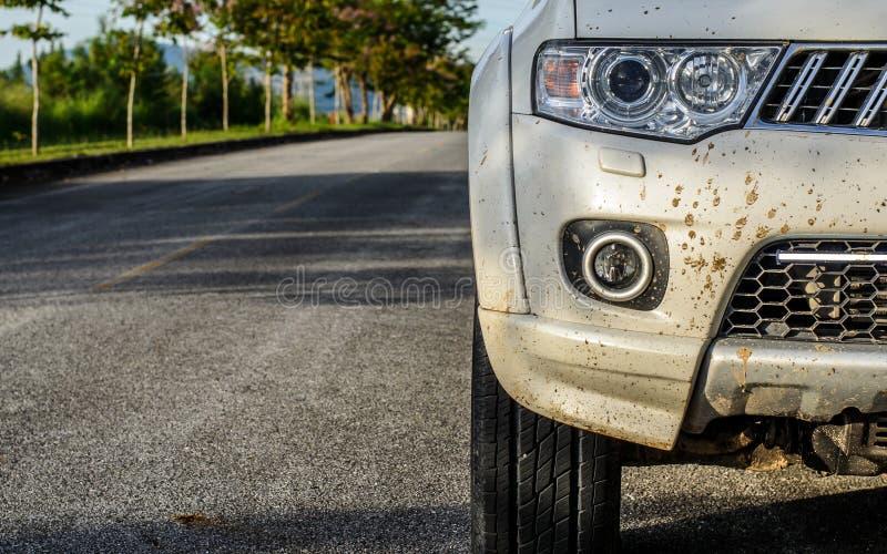 在汽车的泥 免版税图库摄影