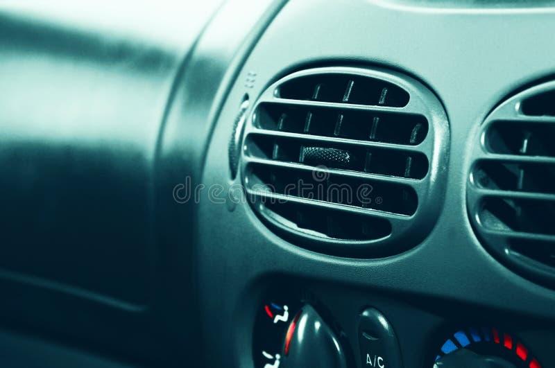 在汽车的空调 库存图片