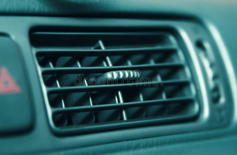在汽车的空调 免版税图库摄影