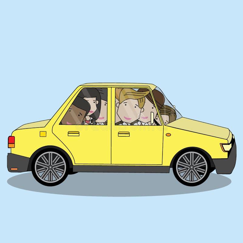 在汽车份额概念的商人 皇族释放例证