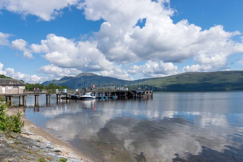 在沃赫洛蒙德在一阴天,苏格兰的看法 免版税库存图片