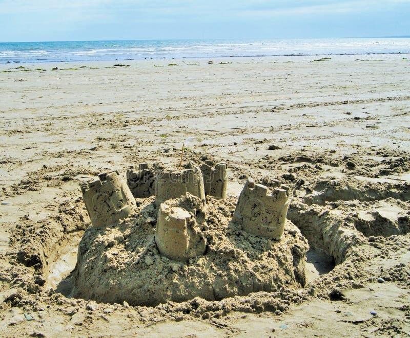 在沙子的城堡 图库摄影
