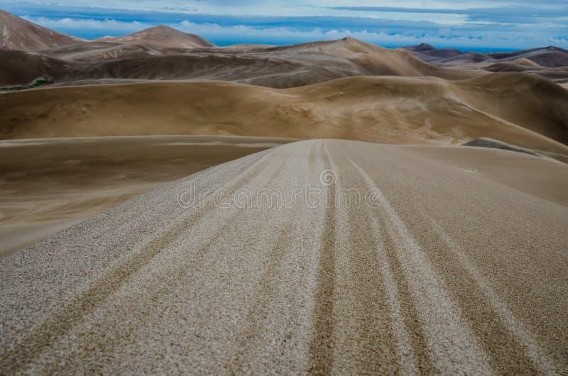 在沙子的条纹 库存照片