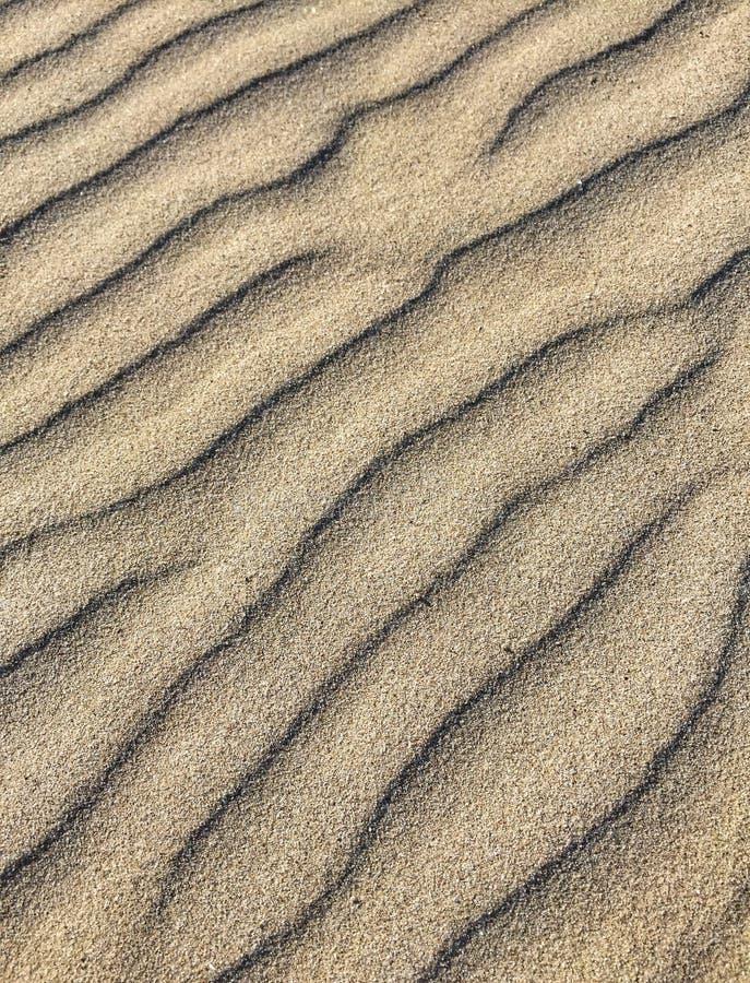 在沙子的模式 免版税图库摄影