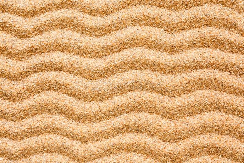 在沙子的波动图式 库存照片
