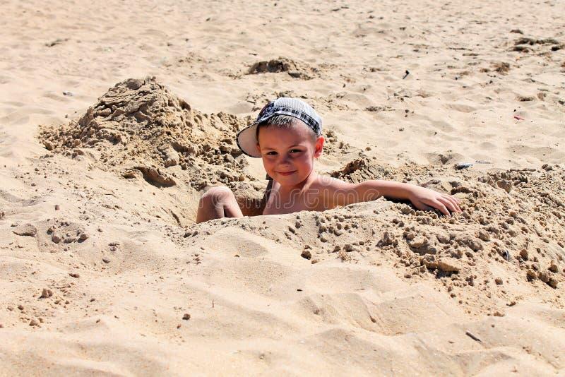 在沙子的美好的好日子 库存照片