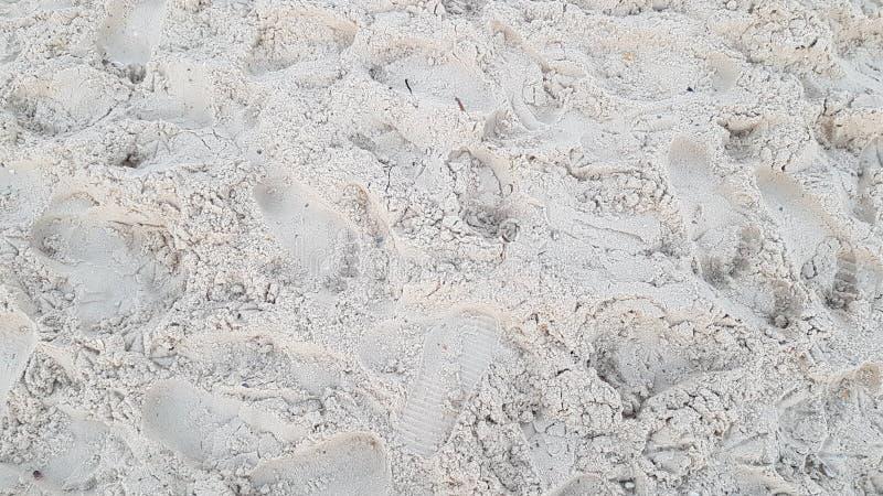 在沙子的脚印 免版税图库摄影