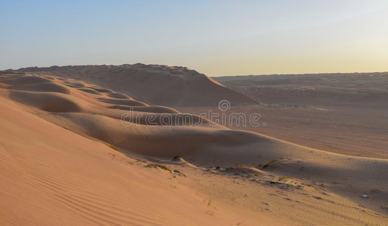 在沙漠中间的一个大沙丘 免版税图库摄影