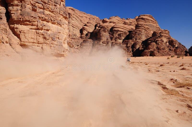 在沙漠的谷 免版税库存照片