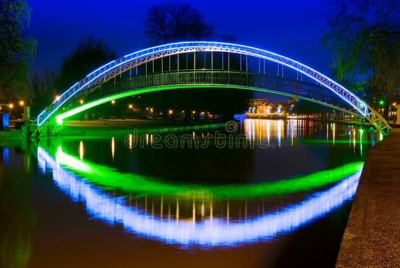 在河伟大的Ouse的桥梁在贝得福得,英国 免版税库存照片