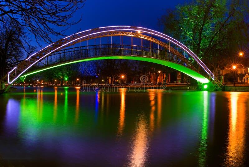 在河伟大的Ouse的桥梁在贝得福得,英国 免版税库存图片