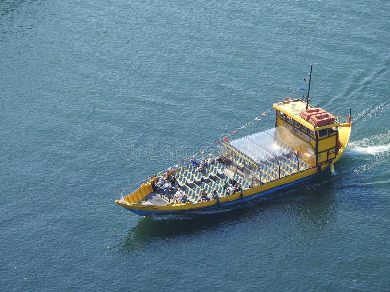 在河杜罗的游船 波尔图 葡萄牙 图库摄影