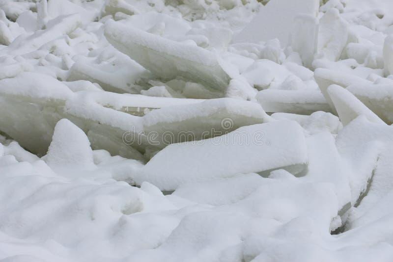 在河的冰川 图库摄影