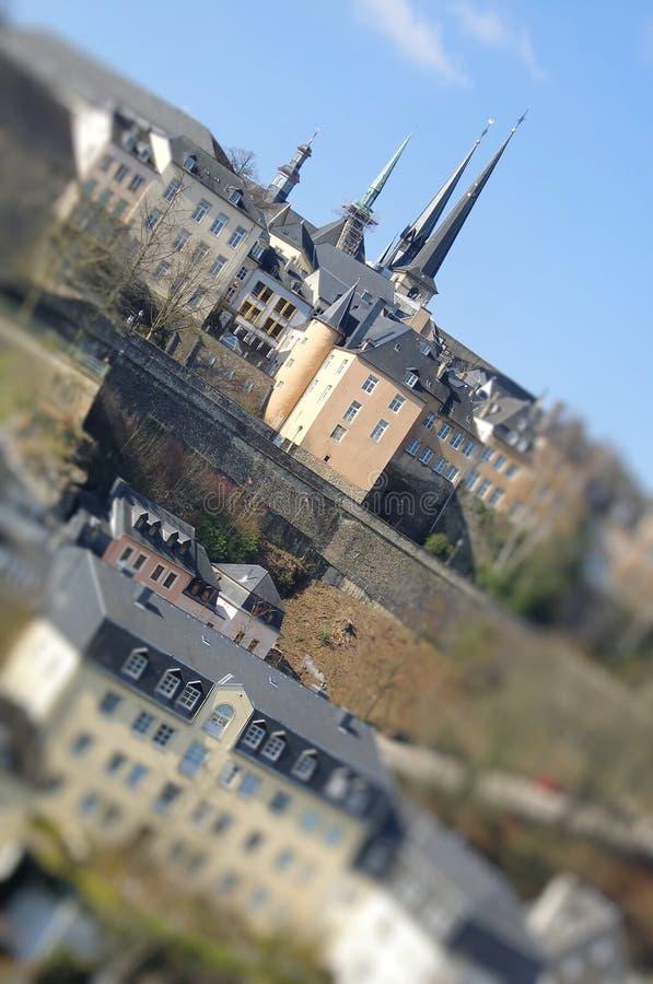 在河的桥梁卢森堡 免版税库存照片