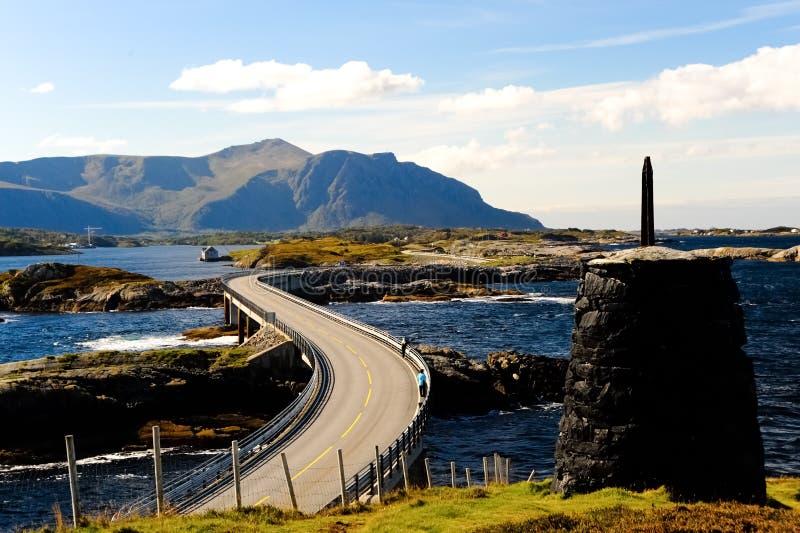 在河的桥梁海湾挪威 免版税库存照片