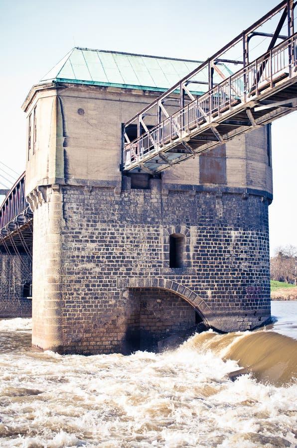 在河的测流堰 免版税图库摄影