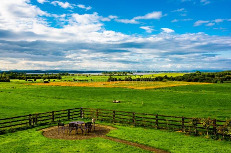 在河香农的风景在爱尔兰 免版税库存图片