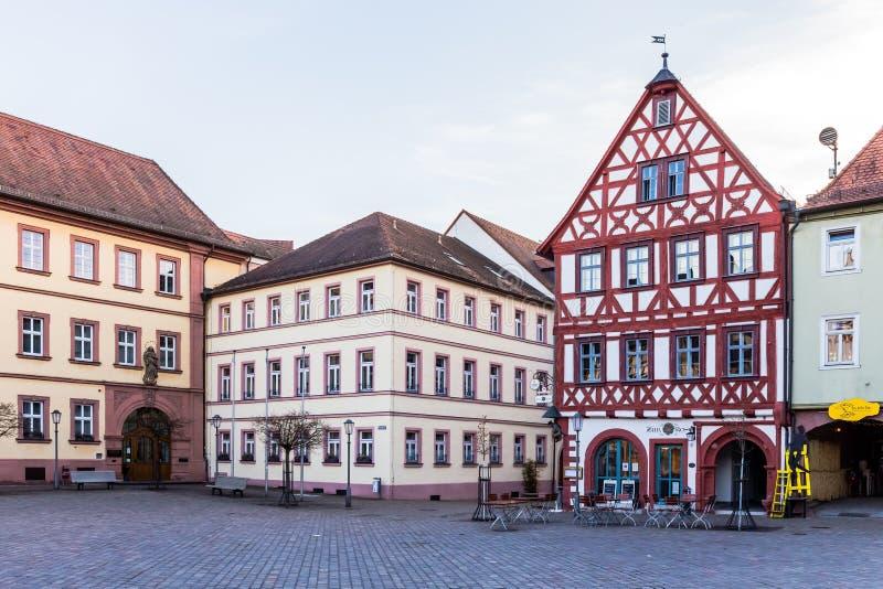 在河主要的Karlstadt 库存照片