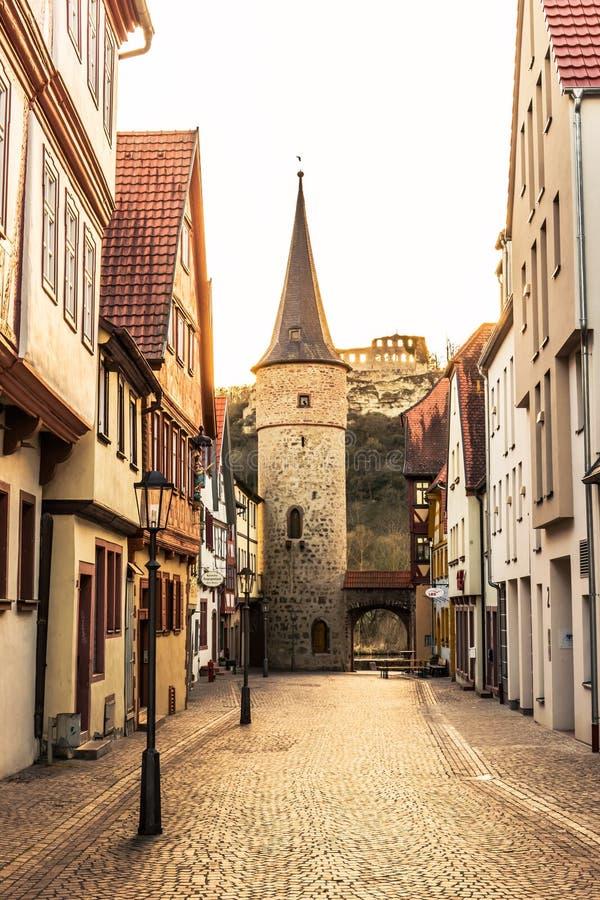 在河主要的Karlstadt 库存图片