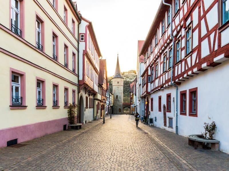 在河主要的Karlstadt 免版税库存图片