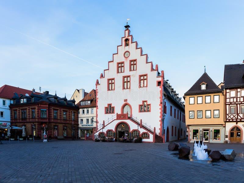 在河主要的Karlstadt 免版税库存照片