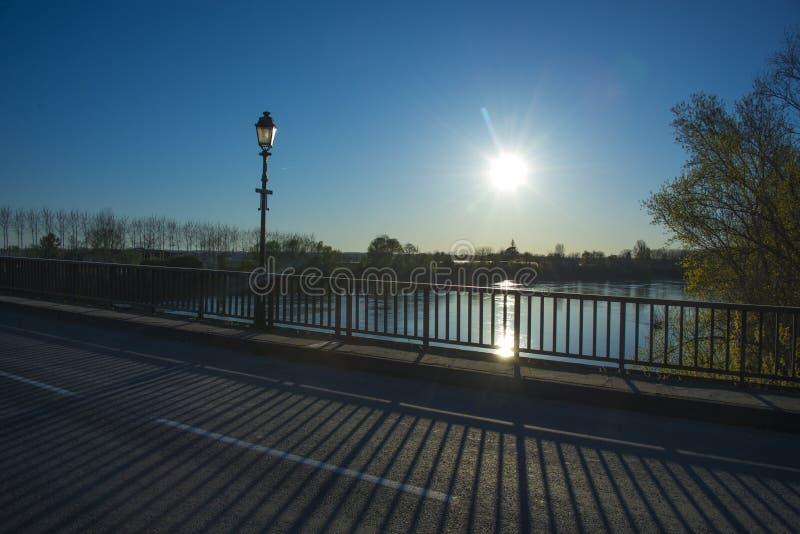 在河Gardon的桥梁在法国 免版税库存图片