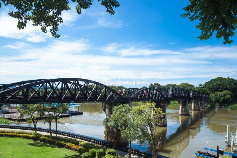 在河Kwai的桥梁 库存照片