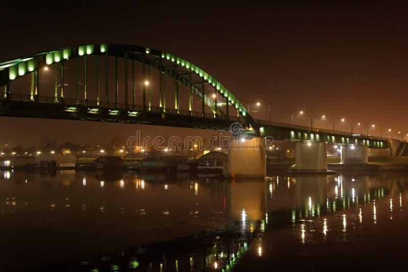 在河Sava的老桥梁 库存照片