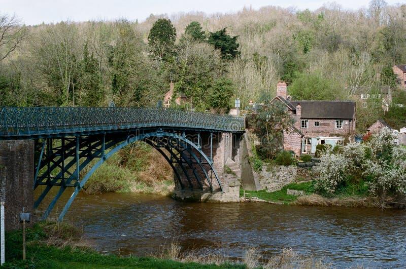 在河Severn,英国的Coalport桥梁 库存图片