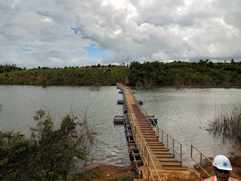 在沼泽的桥梁 免版税图库摄影